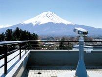 宿の屋上をまるごと開放した「富士山展望台」 ※天候不良の日はご利用になれません