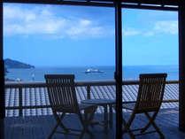海一望、お部屋のテラスの一例です