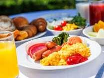 健康志向の和洋朝食ビュッフェ(洋食盛り付け例)