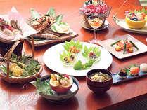 *おいしい高原野菜や青森県産のお肉などにこだわったお料理。