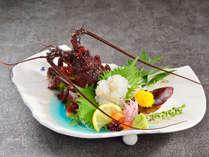 【ご夕食】伊勢海老のお造り(開業25周年)