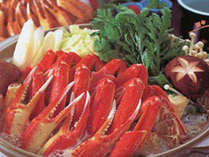 【カニすき】使用する蟹は、身入りの良いものを厳選しております