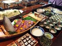 和食自慢の朝食バイキング(一例)