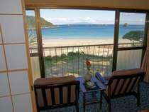 海側客室からの眺望は格別で息をのむ