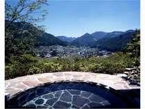 星野村を一望できる露天風呂でゆっくり♪夜は星空を眺めるのも!