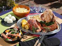 【BBQメニュー】Grand BBQメニュー一例。海の幸・お肉・お野菜とも充実のメニューです!