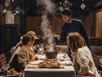 【冬BBQ】ダッチオーブンでじっくりと調理。出来立てをどうぞ。