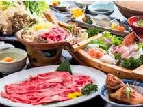 地元名産『但馬牛』をしゃぶしゃぶで、 さらに日本海の海の幸とご一緒にお召し上がりください♪