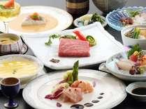 【高級豊後牛ステーキメイン】の高原野菜を使った和洋折衷コース