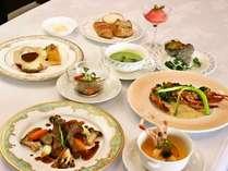 豊後牛メインの洋食ディナー例