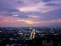 大阪平野の眺望  黄昏