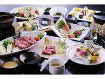 米沢牛をじゅーじゅー♪しゃぶしゃぶ♪お肉のうま味凝縮!米沢牛会席と客室が選べる宿泊プラン