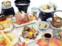 【10月】松茸と蔵王山麓牛すき焼膳