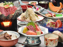 *【ご夕食一例(温もり)】通常より控えめなでリーズナブルなお料理内容。