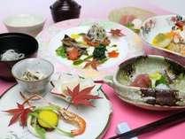 """【2013.09月-11月】新鮮な野菜と旬の食材を使用した会席コース""""せせらぎ"""""""