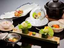 【日本料理】新鮮な野菜と旬の食材を使用した会席コース ※イメージ