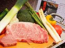 鉄板焼き『石楠花コース』(イメージ)A5ランクの米沢牛をご堪能ください
