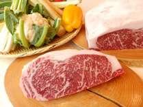 国産牛ステーキディナー(イメージ)フィレ・ロース、ソテー・グリエと部位・焼き方もお選びいただけます