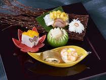 【2017年9月-10月】太刀魚とうもろこし焼きと旬彩盛り 日本料理・特選会席「 匠 」より