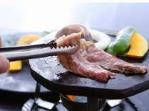 島根和牛を石焼で!肉汁が溢れます♪