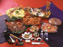 【カニフルコース】カニ味噌、焼きガニ、カニ刺し、茹でガニなどボリューム満点です