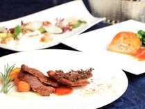 道産和牛のポワレを含む料理長自慢の特別フルコースディナー