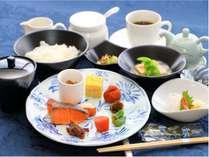 地元食材を使った和朝食