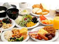 朝食バイキング盛り付け例 がっつり食べて思いっきり大阪を満喫