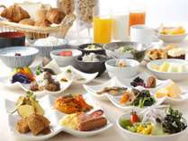 シェフこだわりのメニューで取り揃えた当館人気の朝食!アクティブに活躍される皆様の1日の活力に!