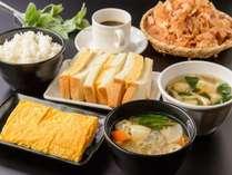大幅リニューアルした朝食は、和朝食と洋朝食からお選びいただけます。1食410円(税込)