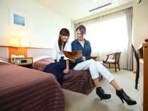 【洋室】夫婦やカップル・友人同士の2人旅に人気