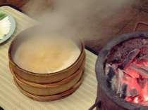 男鹿名物石焼料理。豪快な料理を目の前でお楽しみあれ!