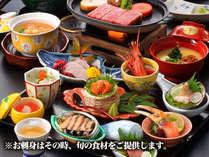 【御刺身九重】御刺身九重と特選牛ステーキ ※御刺身の種類は仕入状況により異なります。