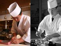 全国技能グランプリ(日本料理)第2位の中川調理長が腕を振るう。