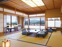 【貴賓室和室】全てが最上級。最上階ならではの蔵王連峰の絶景を贅沢に堪能できるお部屋。