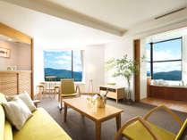 全ての部屋が贅沢なコーナースイートルーム。ゆとりある空間で上質なひと時をお過ごし頂けます。