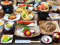 """■【夕食】旬味覚を楽しむ夕食―""""美味しい物をゆったり""""お召し上がり下さい♪旬料理をお出しいたします。"""
