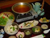 名水湯豆腐鍋プラン(季節によりお料理の内容は変わります)