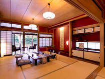 【紅の荘-MOMIJI-】<和室> 「紅葉色の壁が可愛い」と、女性のお客様に人気のお部屋♪