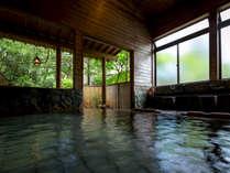 【大浴場-内風呂-】神経痛・関節痛・疲労回復にも効果があり、体の芯からリフレッシュ!