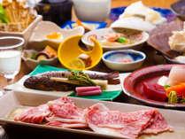 ■上州牛会席■群馬県産ブランド牛「上州牛」をメインに使った和食膳。