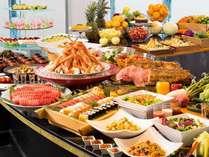 三浦の幸と季節のメニュー・カニも食べ放題のディナーバイキング