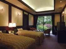 専用大庭園付き離れ貴賓室(101号室[福禄寿])の洋室ツイン