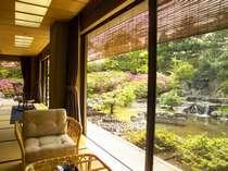 貴賓室『福禄寿』広縁より眺める専用庭園