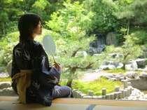 貴賓室『福禄寿』から眺める専用庭園