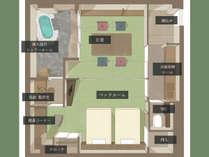 【特別室 萩】温泉風呂とツインベッドを備えた新客室。(※画像はイメージです)