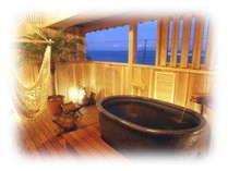 【新渚感☆燦sun】憧れの露天風呂付客室。露天風呂から海を眺めて・・☆