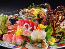 「案内人の豪華な少食」お刺身盛り合わせ☆お刺身の美味しさとはツヤで分かります~♪