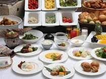 約30種の和洋フルブッフェ朝食(イメージ)