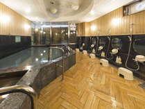 男性大浴場/高知県ビジネスホテル最大級の大浴場は一日の疲れが癒やされると好評です!